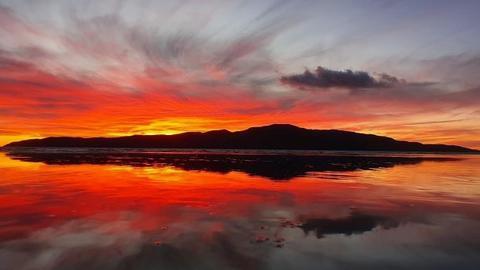 Sunset over Kapiti Island